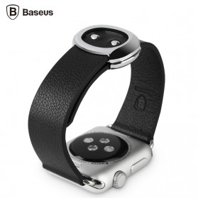 Baseus Mingshi Series Real Leather Band for Apple Watch 38mm Series 1 & 2 - Black