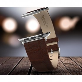 Hoco Bamboo Texture Leather Band for Apple Watch 42mm Series 1/2/3/4 - Black - 3