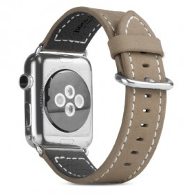 Hoco Luxury Style Leather Band for Apple Watch 42mm Series 1 & 2 - Khaki