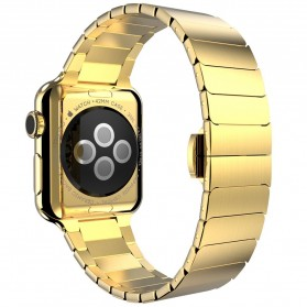 Hoco Link Style Stainless Steel Band for Apple Watch 42mm Series 1 & 2 - Golden