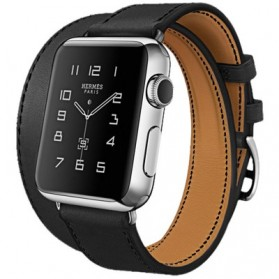 Hoco Art Series Genuine Real Leather Strap for Apple Watch 42mm Series 1 & 2 - Black