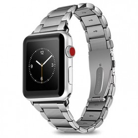 Hoco 3 Pointer Stainless Steel Band for Apple Watch 42mm Series 1/2/3 - Silver
