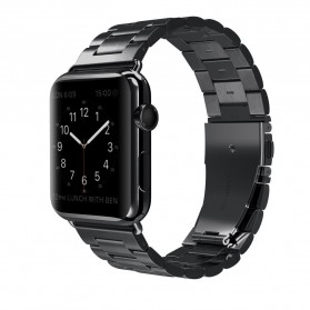 Hoco 3 Pointer Stainless Steel Band Apple Watch 42mm Series 1/2/3/4 - Black
