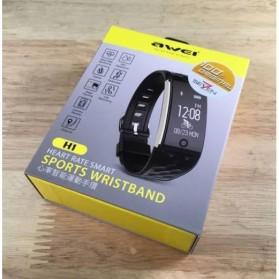 Awei Jam Tangan Smartwatch Sport Fitness Notification - H1 - Black - 4