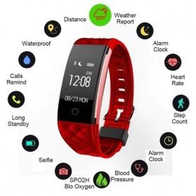 Awei Jam Tangan Smartwatch Sport Fitness Notification - H1 - Black - 5