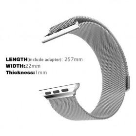 Lerxiuer Milanese Watchband untuk Apple Watch 42mm Series 1/2/3/4 - AP01 - Silver - 2