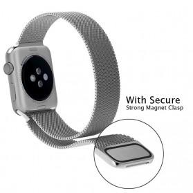 Lerxiuer Milanese Watchband untuk Apple Watch 42mm Series 1/2/3/4 - AP01 - Silver - 4
