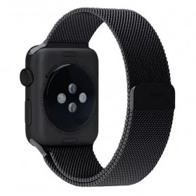 Lerxiuer Milanese Watchband untuk Apple Watch 42mm Series 1/2/3/4 - AP01 - Black