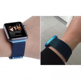 Lerxiuer Milanese Watchband untuk Apple Watch 42mm Series 1/2/3/4 - AP01 - Black - 6