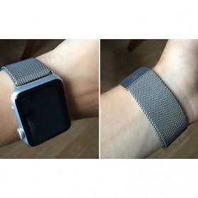 Lerxiuer Milanese Watchband untuk Apple Watch 42mm Series 1/2/3/4 - AP01 - Black - 7