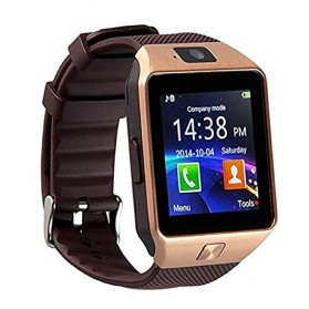 DZ09 Smartwatch WatchPhone GSM for Android - Rose Gold
