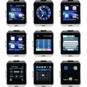DZ09 Smartwatch WatchPhone GSM for Android - Black - 5