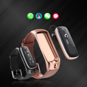 SAMTAO Smartwatch Headset Bluetooth - M6 - Black - 3