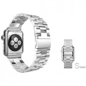Classic Luxury Stainless Steel Band for Apple Watch 42mm Series 1/2/3 - Silver