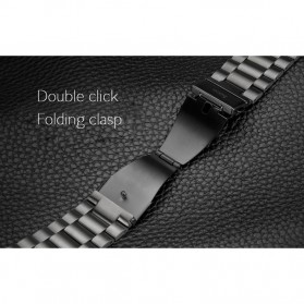 Classic Luxury Stainless Steel Band for Apple Watch 42mm Series 1/2/3 - Black - 7