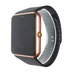Smartwatch Sporty Sim Card Bluetooth for Android - GT08 - Black Gold