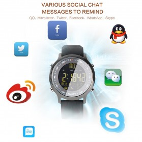 Cawono Smartwatch Tracker Aktifitas Sporty Outdoor - EX18 - Black - 5