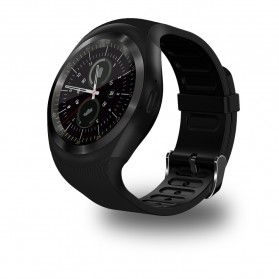 Sporty Smartwatch Bluetooth SIM Card for Android iOS - Y1 - Black