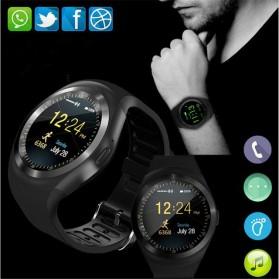 Sporty Smartwatch Bluetooth SIM Card for Android iOS - Y1 - Black - 2