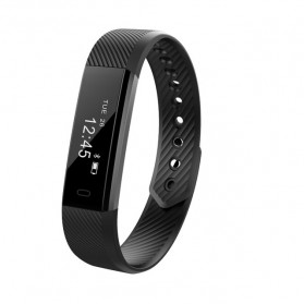 ID 115 Smartwatch Bracelet Fitness Tracker - Black