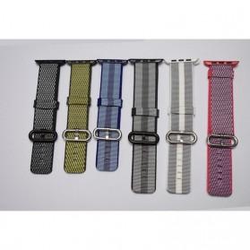 Tali Jam Tangan Nylon Apple Watch Series 1/2/3/4 - 42mm - Black White - 4