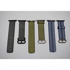 Tali Jam Tangan Nylon Apple Watch Series 1/2/3/4 - 42mm - Black - 5
