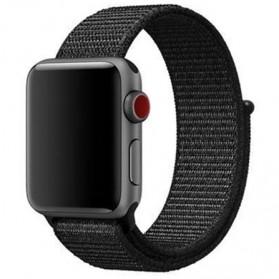 Tali Jam Tangan Wooven Nylon Apple Watch Series 1/2/3/4 - 38mm - Black