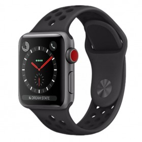 Tali Jam Tangan Silicone Apple Watch Series 1/2/3/4 - 42mm - WH5216 - Black