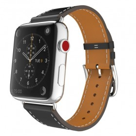 Tali Jam Tangan Leather Watchband Apple Watch Series 1/2/3/4 38mm - TP12 - Black - 1