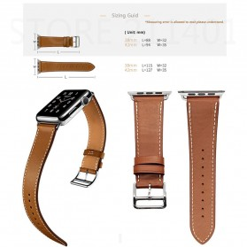 Tali Jam Tangan Leather Watchband Apple Watch Series 1/2/3/4 38mm - TP12 - Black - 2