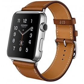 Tali Jam Tangan Leather Watchband Apple Watch Series 1/2/3/4 42mm - TP12 - Brown - 1