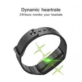 Wearfit Smartwatch Wristband LED Fitness Tracker Heart Rate Waterproof - C1S - Black - 3