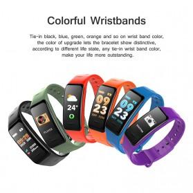 Wearfit Smartwatch Wristband LED Fitness Tracker Heart Rate Waterproof - C1S - Black - 4