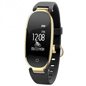 Smartwatch Wanita Fitness Tracker Heartrate Monitor Waterproof - S3 - Black Gold