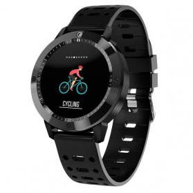 SENBONO Smartwatch Sporty Fitness Tracker Heartrate Monitor Waterproof - CF58 - Black