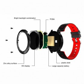 SENBONO Smartwatch Sporty Fitness Tracker Heartrate Monitor Waterproof - CF58 - Black - 2