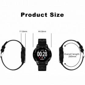 SENBONO Smartwatch Sporty Fitness Tracker Heartrate Monitor Waterproof - CF58 - Black - 4