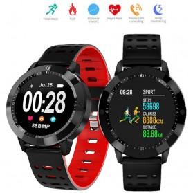 SENBONO Smartwatch Sporty Fitness Tracker Heartrate Monitor Waterproof - CF58 - Black - 5