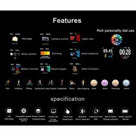 SENBONO Smartwatch Sporty Fitness Tracker Heartrate Monitor Waterproof - CF58 - Black - 7