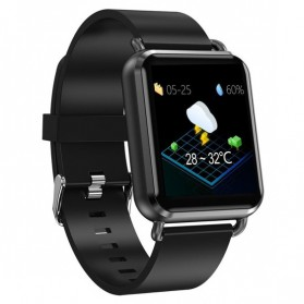 Smartwatch Sporty Fitness Tracker Android iOS Strap Silicone - Q3 - Black