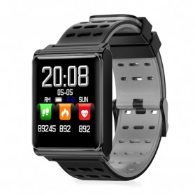 Smartwatch Sporty Fitness Tracker Android iOS Strap Silicone - N98 - Black