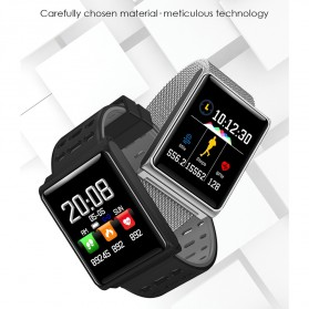 Smartwatch Sporty Fitness Tracker Android iOS Strap Silicone - N98 - Black - 3