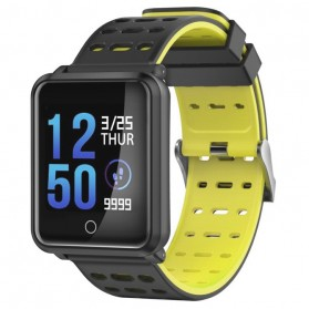 Smartwatch Sporty Fitness Tracker Android iOS Strap Silicone - N88 - Black/Yellow
