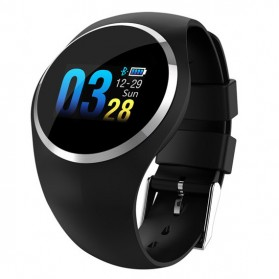 Smartwatch Sporty Fitness Tracker Android iOS Strap Silicone - Q1 - Black