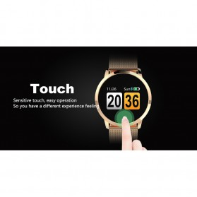 Smartwatch Sporty Fitness Tracker Android iOS Strap Leather - Q8 - Black - 8