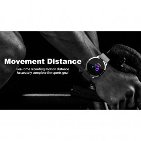 Smartwatch Sporty Fitness Tracker Android iOS Strap Stainless Steel - Q8 - Black - 4