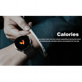 Smartwatch Sporty Fitness Tracker Android iOS Strap Stainless Steel - Q8 - Black - 5