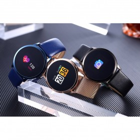 Smartwatch Sporty Fitness Tracker Android iOS Strap Stainless Steel - Q8 - Black - 10