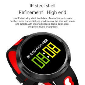 Smartwatch Sporty Fitness Tracker Android iOS Strap Silicone - X9-VO - Black - 2