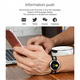 Smartwatch Sporty Fitness Tracker Android iOS Strap Silicone - X9-VO - Black - 4